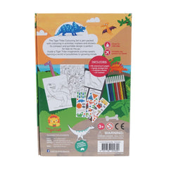 Tiger Tribe Colouring Set Dinosaurs Back Packaging