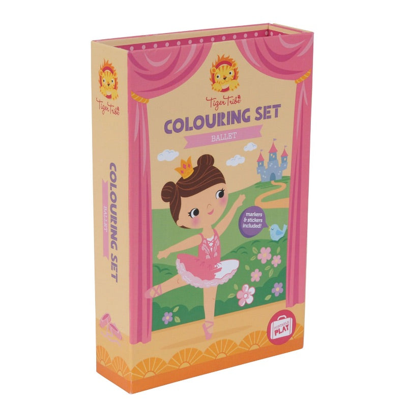 Tiger Tribe Colouring Set Ballet Front Packaging