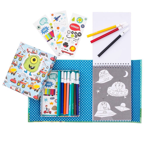 Tiger Tribe Colouring Set Adventures Contents