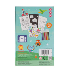 Tiger Tribe Colouring Set Adventures Back Packaging
