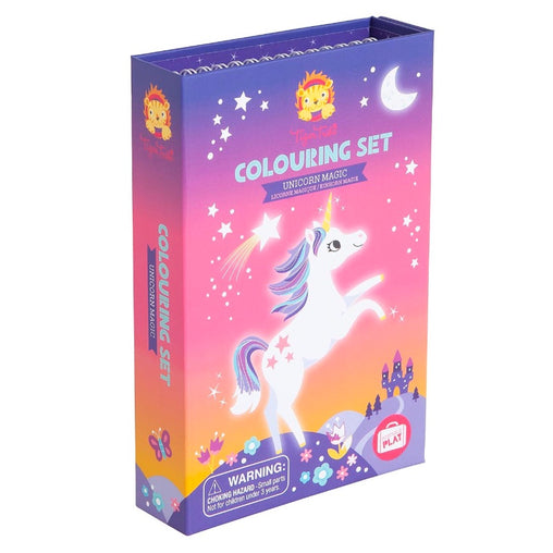 Tiger Tribe Colouring Set Unicorn Magic Front Packagaing