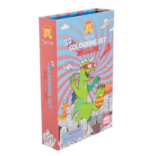 Tiger Tribe 3D Colouring Set Sci-Fi Fun Packaging