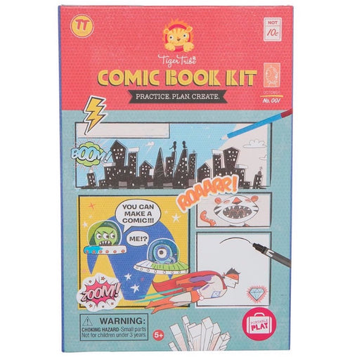 Tiger Tribe Comic Book Kit - Practice Plan Create Cover