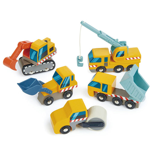 Tender Leaf Toys Wooden Construction Car Set