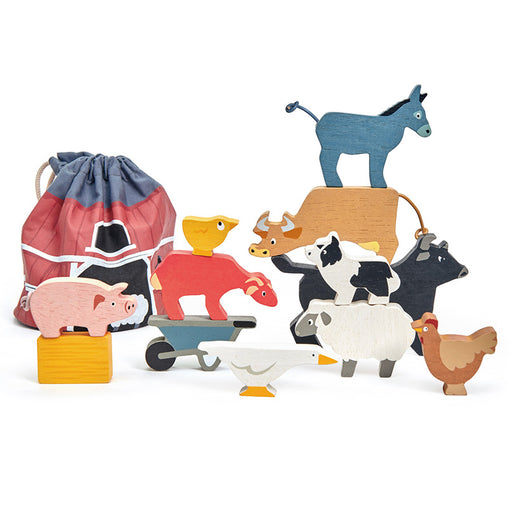 Tender Leaf Toys Stacking Farmyard Pieces