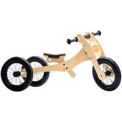 Trybike Wooden 4-in-1 Balance Bike and Trike Brown Low Tricycle 2