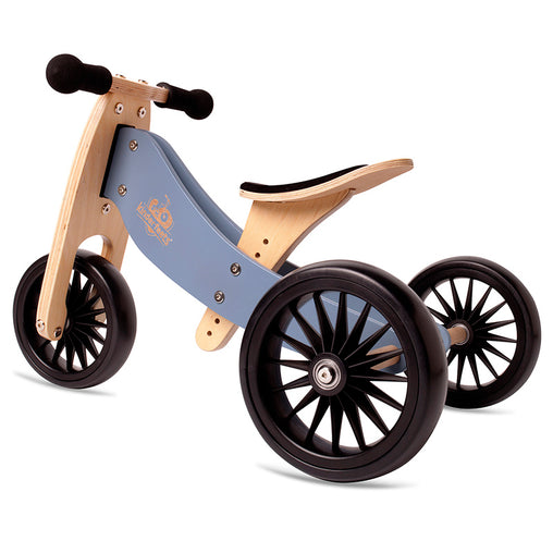 Artiwood Tiny Tot PLUS - Slate Blue 2-in-1 Balance Bike and Trike