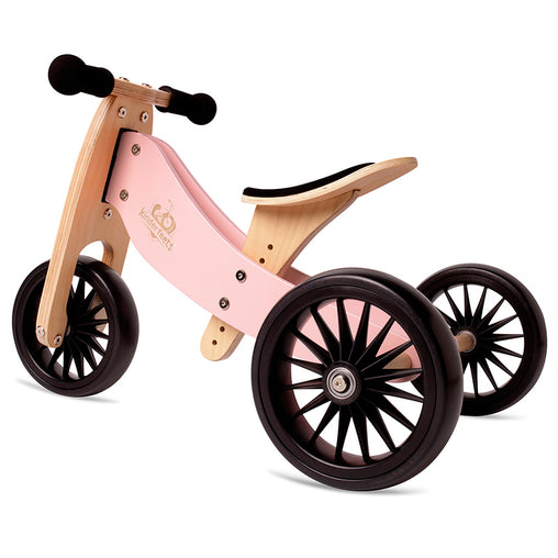 Artiwood Tiny Tot PLUS - Rose 2-in-1 Balance Bike and Trike
