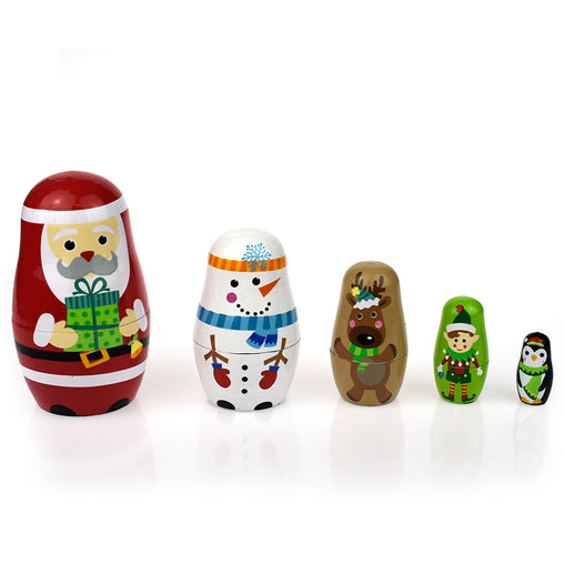 Tooky Toy Christmas Nesting Dolls