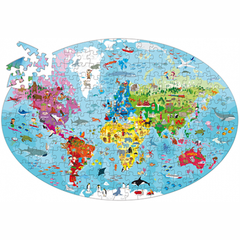 Sassi Junior Travel Learn and Explore the Earth 205 Piece Puzzle and Book 2