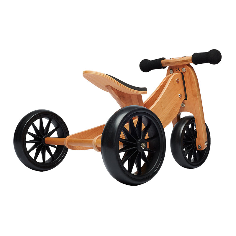 Kinderfeets Tiny Tot Bamboo 2-in-1 Balance Bike and Tricycle Trike