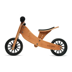 Kinderfeets Tiny Tot Bamboo 2-in-1 Balance Bike and Tricycle Trike Side view 2