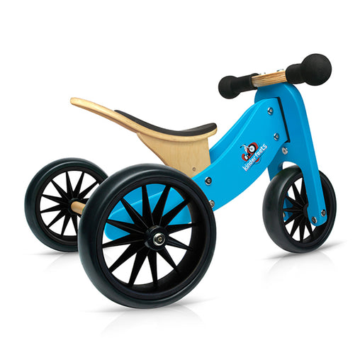 Kinderfeets Tiny Tot Blue 2-in-1 Balance Bike and Tricycle Trike