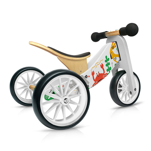 Kinderfeets Tiny Tot Makii Animals  2-in-1 Balance Bike and Tricycle Trike