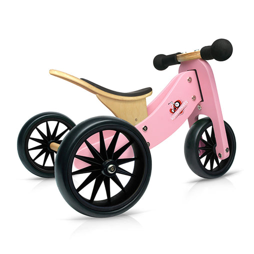 Kinderfeets Tiny Tot Pink 2-in-1 Balance Bike and Tricycle Trike