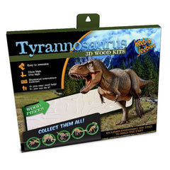 Heebie Jeebies Tyrannosaurus Dinosaur 3D Wood Kit Packaging