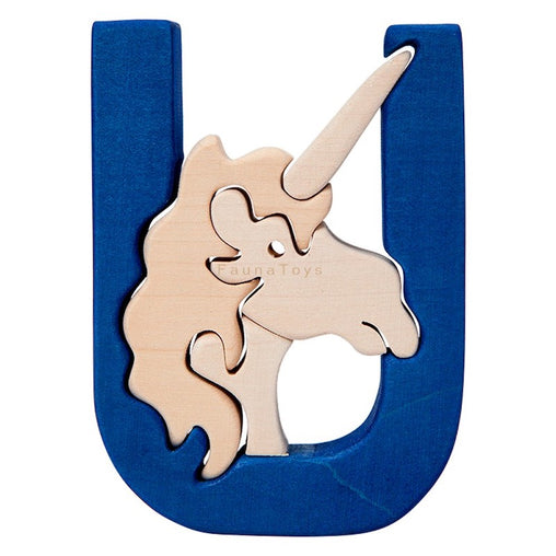 Fauna U for Unicorn Letter Puzzle