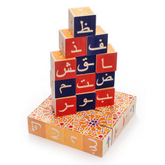 Uncle Goose Arabic Wooden Alphabet Blocks