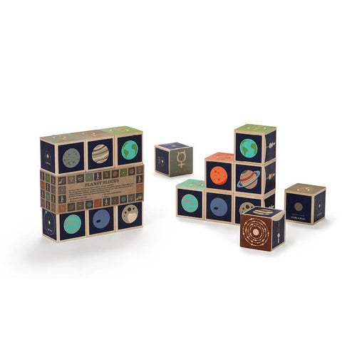 Uncle Goose Planets Wooden Blocks with Box