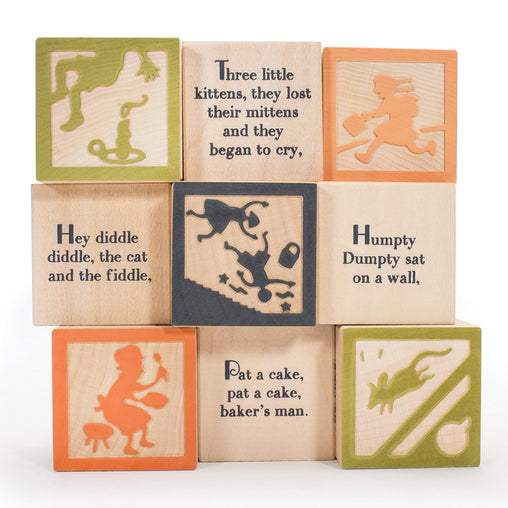 Uncle Goose Nursery Rhyme Favourites Wooden Blocks