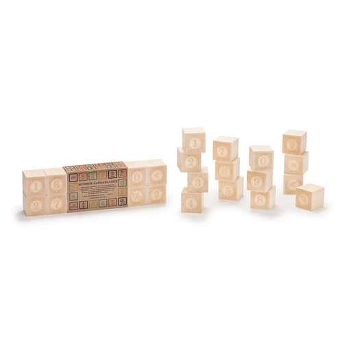 Uncle Goose Number Alphablanks Set of 14 Wooden Blocks