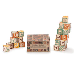 Uncle Goose Italian Wooden Alphabet Blocks With Packaging