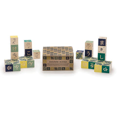 Uncle Goose Japanese Wooden Alphabet Blocks Packaging