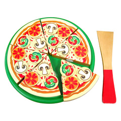 Viga Pizza with Topping Wooden Play Food