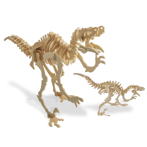 Velociraptor Dinosaur 3D Wood Kit