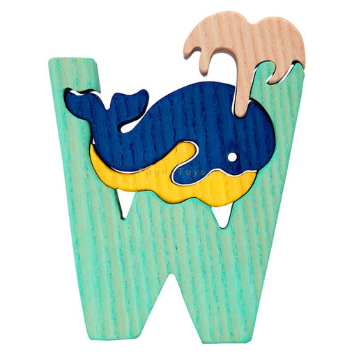 Fauna W for Whale Letter Puzzle