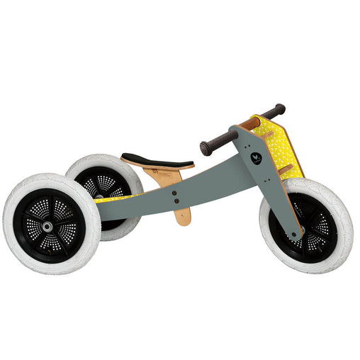 Wishbone 3-in-1 Wooden Bike Grey Trike