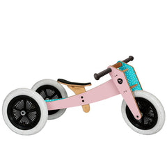 Wishbone 3-in-1 Wooden Bike Pink Trike