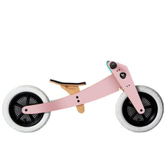 Wishbone 3-in-1 Wooden Bike Pink Low Seat
