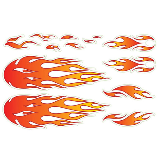 Wishbone Stickers Flames