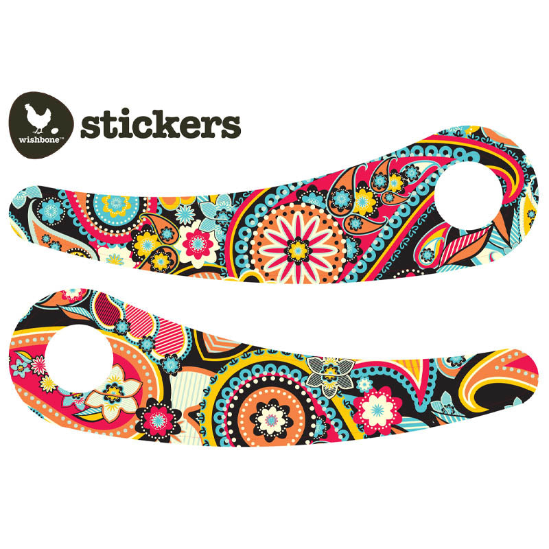 Wishbone Recycled Edition Stickers Paisley