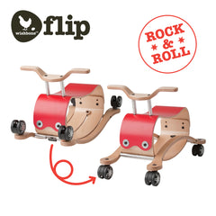 Wishbone Flip Ride On Red 2 versions