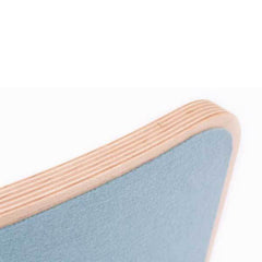 Wobbel Wooden Wobbel Board Original with Sky Blue Felt Corner