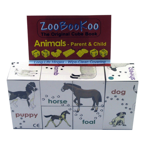 Zoobookoo Cube Book Parents & Child Animals