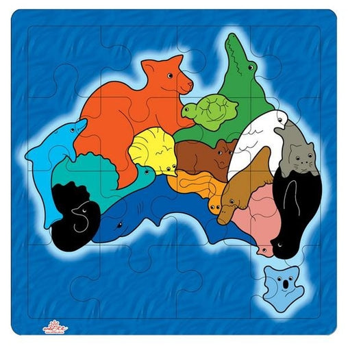 AndZee - Puzzle Map of Australia with Animals