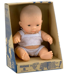 Miniland Doll Asian Boy 21cm Packaging