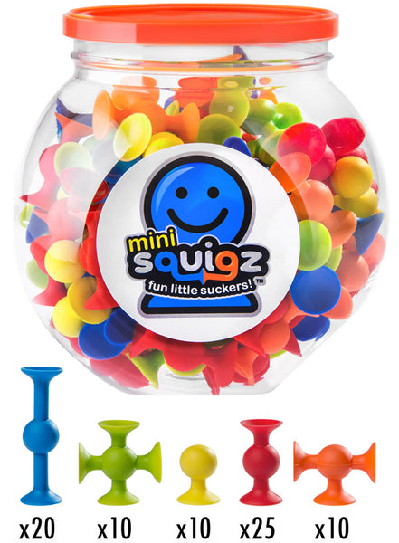 Fat Brain Toy Co - Mini Squigz 75-piece Pack