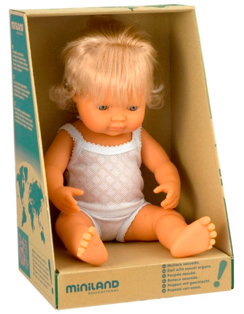 Miniland - Doll Caucasian Girl 38cm Boxed