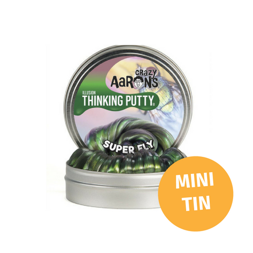 Crazy Aarons Thinking Putty - Mini Tin Colour Shifting Super Fly Putty