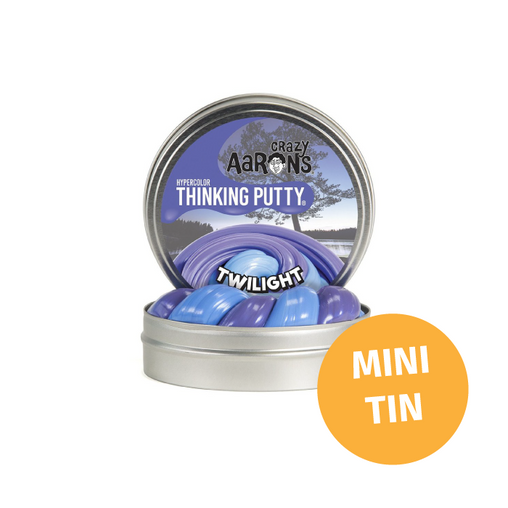 Crazy Aarons Thinking Putty - Mini Tin Hypercolour Heat Sensitive Twilight