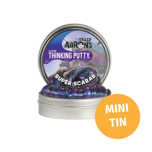 Crazy Aarons Thinking Putty - Mini Tin Colour Shifting Super Scarab Putty