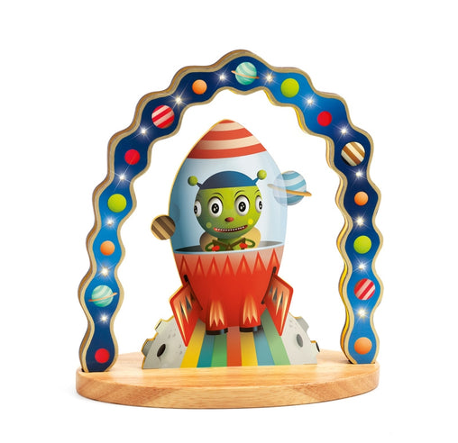 Djeco - Mister Zinzin Alien Wooden Night Light