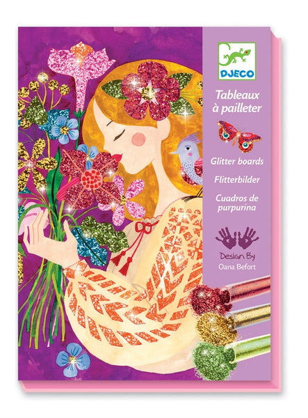 Djeco - Glitter Boards The Scent Of Flowers 2