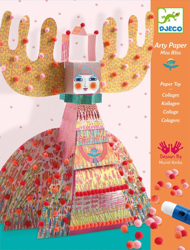 Djeco - Arty Paper Miss Bliss Craft Kit
