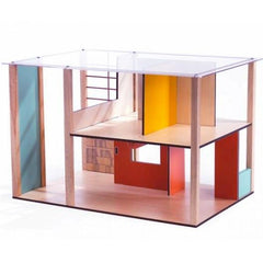 Djeco Wooden Cubic Doll House Unfurnished