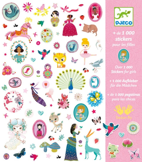 Djeco 1000 Stickers Just for Girls